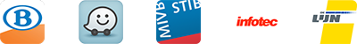 Applications Sncb - Waze, Stib, Infotec.be, De Lijn